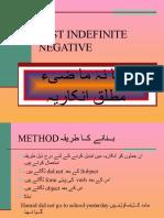 Past Indefinite Negative