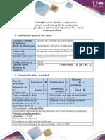 Guía de Actividades y Rúbrica de Evaluación - Pos-tarea - Evaluación Final