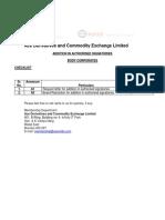 Addition in Authorised Signatories Corporate
