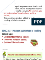 1 - Prelim Lectures - Concept of Teaching With Questions for Reflection2