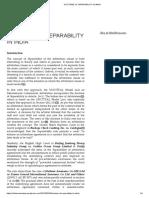 Doctrine of Separability in India