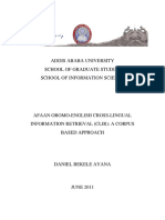 Afaan Oromo-English Cross-lingual Information Retrieval