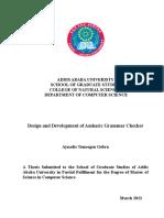 Development of Amharic Grammar Checker Using Morphological