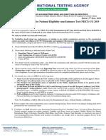 advisory neet2019