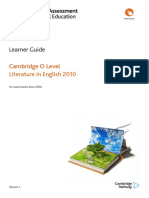 478389 Learner Guide for Cambridge o Level Literature in English 2010