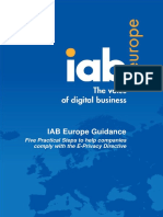 IAB Europe Guidance - Five Practical Steps to Comply With EU EPrivacy Directive