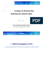 VIAQ-08-08-Test Procedure on Exhaust Gas Entering Into Vehicle Cabin
