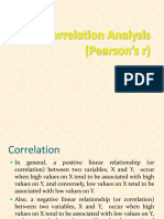 Pearson Correlation Analysis