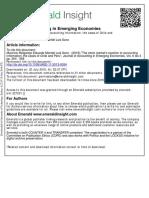 Journal of Accounting in Emerging Economies Volume 6 Issue 3 2016 [Doi 10.1108_JAEE-11-2013-0054] Melgarejo, Mauricio; Montiel, Eduardo; Sanz, Luis -- The Stock Market's Reaction to Accounting Infor
