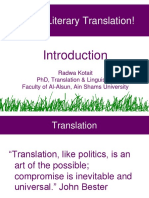 Literary Translation Introduction
