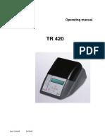 Manual TR420 En