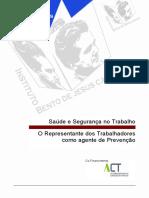 Manual - O representante para a SST como agente de prevenção