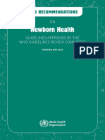 WHO Guidelines for Newborn Care