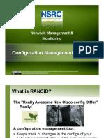 Config Management Rancid