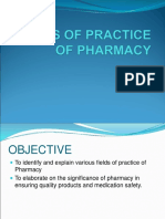 4 Fields of Practice of Pharmacy