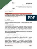 G01. Costos y Presupuestos. Planificación de Recursos Asociados a Proyectos de Fabricación y Montaje Industrial.