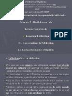 Introduction a La Notion d Obligation