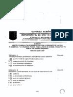 Subiecte Diriginte Drumuri Nationale Aprilie2007