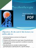 Psychotherapies comparison