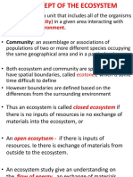 Lecture 2 Concept of Ecosystems