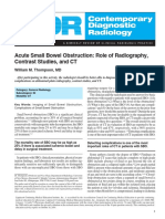 Acute Small Bowel Obstruction Role of Radiography, Contrast Studies, And CT