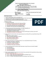 SOAL UAS X DPIB Dasar-Dasar Kontruksi & Ilmu Ukur Tanah