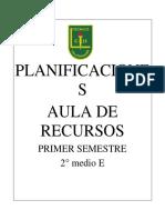 Planificación AR - 2°medio E