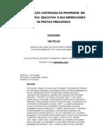 A FORMAÇÃO CONTINUADA DO PROFESSOR EM INFORMÁTICA EDUCATIVA E SUA REPERCUSSÃO NA PRÁTICA PEDAGÓGICA