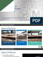 Overview of WMATA Plan Regarding Summer 2019 Yellow/Blue Line Closures