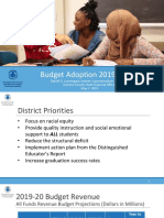 Rochester City School District 2019-20 Budget Adoption
