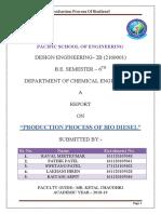 Biodisel report for design engineering