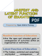 The Manifest and Latent Function of Education
