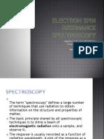 Electron Spin Resonance Spectroscopy