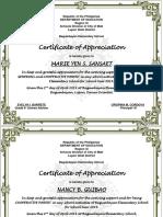 Certificate Parent 2019