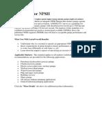 Guideline for NPSH