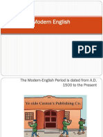Lecture 9 - Modern Emglish
