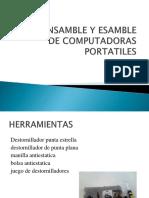 Desensamble y Esamble de Computadoras Portatiles 1