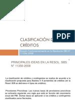 Clasificación de créditos