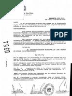 Decreto que otorgó bonificaciones a una empleada de Tránsito