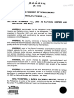 AO 2015-0052 National Policy on Palliative and Hospice Care in the Philippines