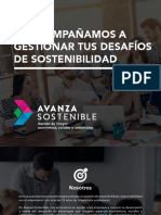 Brochure Avanza Sostenible