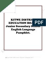 District Pamphlet 1 Junior English