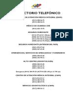 Directorio Telefonico 16-02-2017