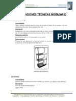 Especificaciones Tecnicas Equipamiento y Mobiliario