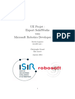 Rapport Projet SolidWorks-MRDS