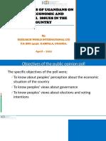 Latest Opinion Poll By Research  World International  Ltd