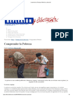 Comprender La Pobreza _ Reflexión y Liberación
