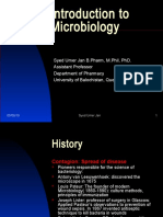 Lecture 1 - Introduction to Microbiology