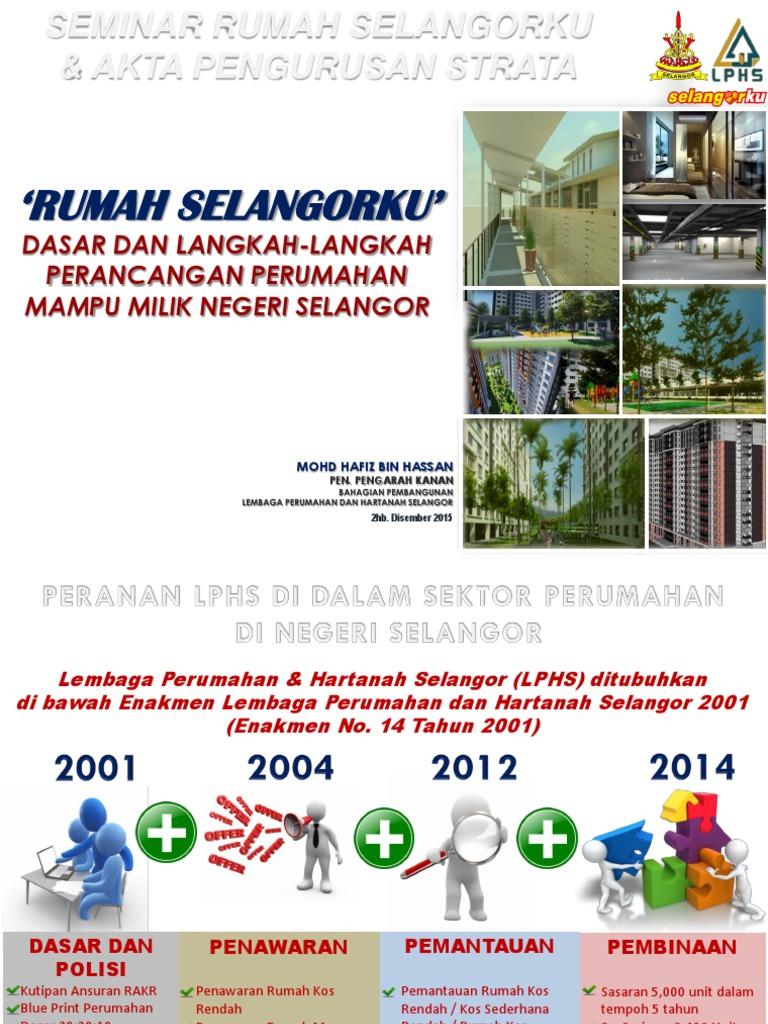 Rumah Selangorku Dasar Dan Langkah Langkah Perancangan Perumahan Mampu Milik Negeri Selangor