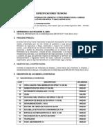 Especificaciones Tecnicas Materiales de Limpieza